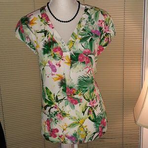 🆕️ NWT Worthington floral sleeveless vneck top